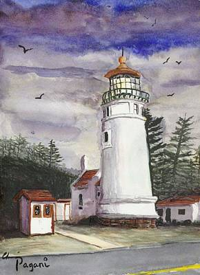 Painting - Umpqua Lighthouse by Chriss Pagani