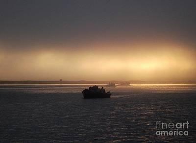 Umpqua River Sunrise Art Print by Erica Hanel
