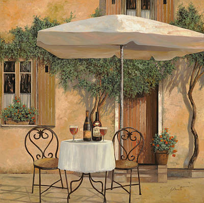 Food And Beverage Painting - Un Altro Bicchiere Prima Di Pranzo by Guido Borelli