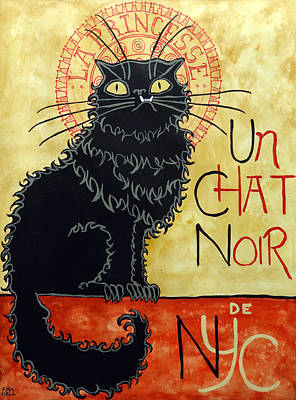 Monster Truck Painting - Un Chat Noir De N Y C by Ande Hall