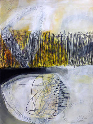 Abstracted Painting - Un -earth 1 by Jane Davies