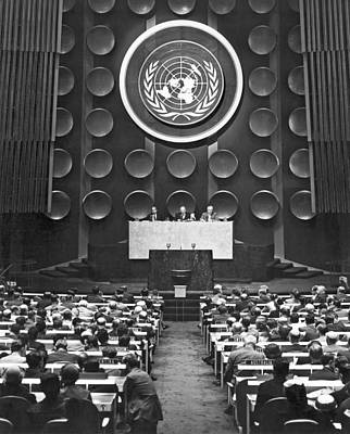 United Nations Photograph - Un General Assembly by Underwood Archives