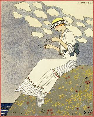 Contemplate Painting - Un Peu... by Georges Barbier