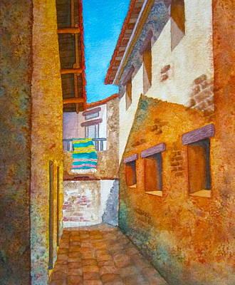 San Juan Capistrano Painting - Una Camina En San Juan by Lynn Morgan -                            L L Morgan Art