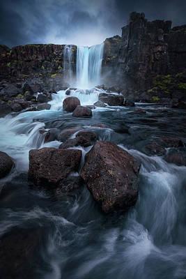Iceland Wall Art - Photograph - Una Cascada. by Juan Pablo De