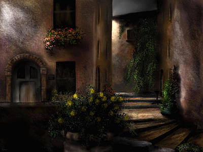 Painting - Una Notte Tranquilla - A Quiet Night by Ron Grafe