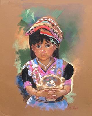 Painting - Una  Nuevo Poco Vendedor Guatemalan by Suzanne Cerny