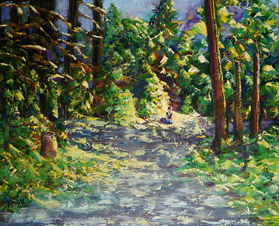 Fork In The Road Painting - Unable To Make A Decision by Mary Haas