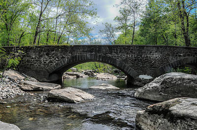 Rocky Photograph - Unami Creek - Montgomery County Pa by Bill Cannon
