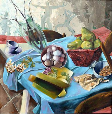 Unbalanced Breakfast Original by Andrea Rosenfeld