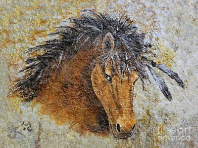Stone Pony Painting - Unbridled by Kally Wininger