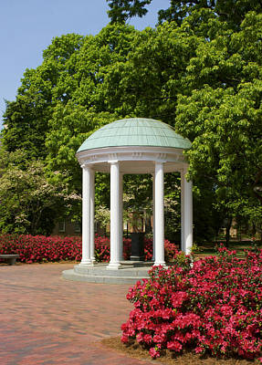 Unc Photograph - Unc-ch Old Well And Azaleas 01 by Orange Cat Art