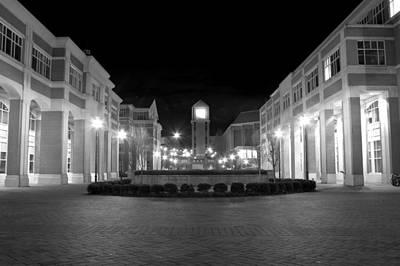 Videographer Photograph - Unc Charlotte Square by Charlotte NC Artist Phil Robinson