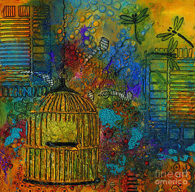 Mixed Media - Uncaged by Angela L Walker