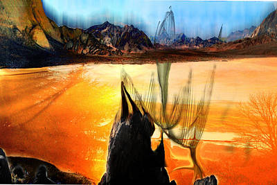 Death Valley Mixed Media - Unceatainty Or Peace I Do Not Know by Sinisha Glisic