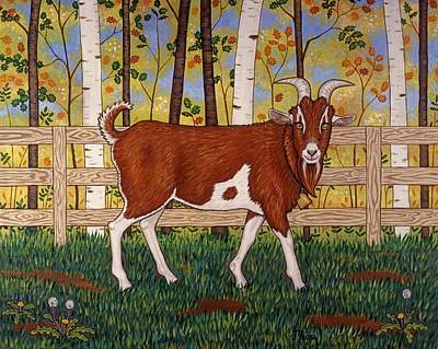 Whimsical Painting - Uncle Billy's Goat by Linda Mears