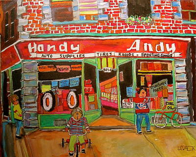 Handy Andy Painting - Uncle Davey's Handy Andy by Michael Litvack