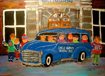 Willingdon School Painting - Uncle Harry's At Willingdon by Michael Litvack