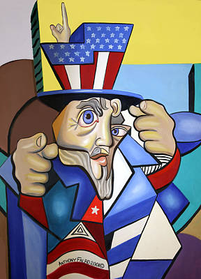 Painting - Uncle Sam 2001 by Anthony Falbo