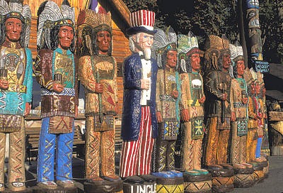 Target Threshold Photography - Uncle Sam and the Indians by Carl Purcell