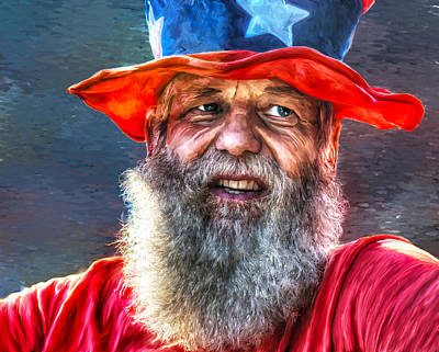 Uncle Sam Art Print by Rick Mosher