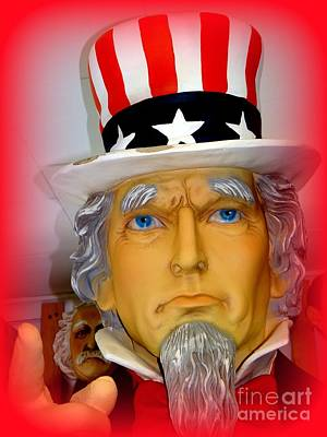 Uncle Sam Wants You Art Print by Ed Weidman
