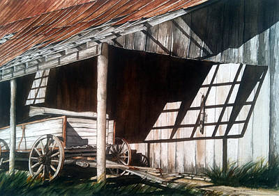 Painting - Uncle Seifs Wagon  by Don F  Bradford