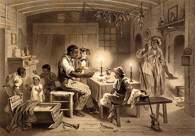 Slaves Drawing - Uncle Toms Cabin, Plate 1 From Uncle by Adolphe Jean-Baptiste Bayot