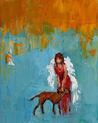 Wag Painting - Unconditional Love by Judy Mackey