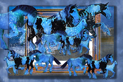 Herding Digital Art - Unconfined World Confined by Betsy Knapp