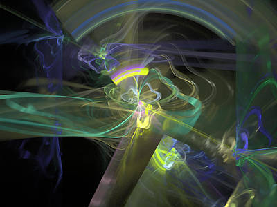 Digital Art - Uncontrollable Motion by Richard J Cassato