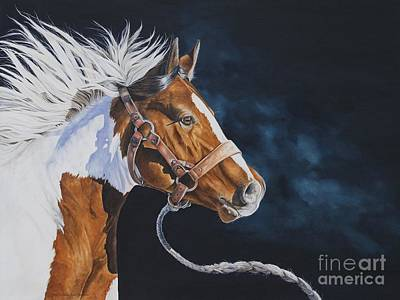 Mustang Painting - Undaunted by Joni Beinborn