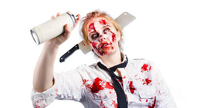 Spray Paint Can Photograph - Undead Woman With Spray Can by Jorgo Photography - Wall Art Gallery