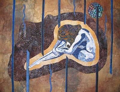 Lynda Boardman Art Tapestry - Textile - Under A Blue Moon by Lynda K Boardman