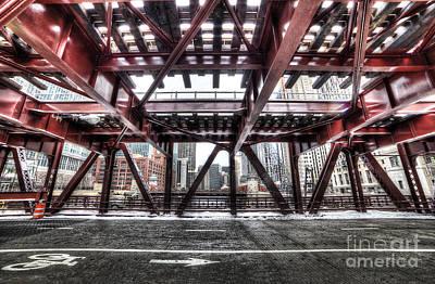 Under A Bridge In Chciago Art Print