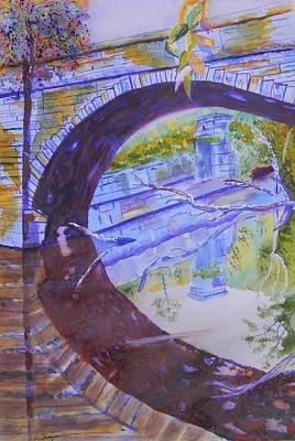 Under A French Bridge Original by Warren Thompson
