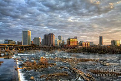 Richmond Virginia Photograph - Under A Golden Sky by Tim Wilson
