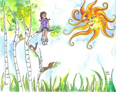 Tomboy Painting - Under A Sunny Sky by Kelly Walston