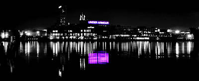 Under Amour At Night - Vibrant Color Splash Art Print