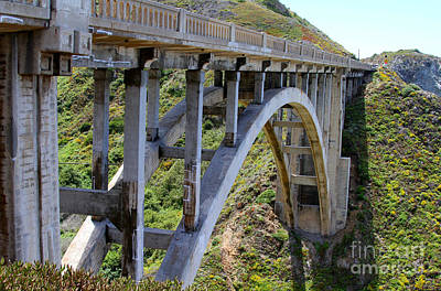 Photograph - Under Bixby Bridge By Diana Sainz by Diana Raquel Sainz
