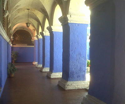 Photograph - Under Blue Arches by Lew Davis