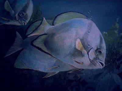 Under Blue. Art Print by Ruben  Llano