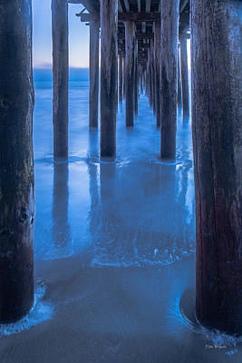 Photograph - Under Cayucos Pier by Tim Bryan