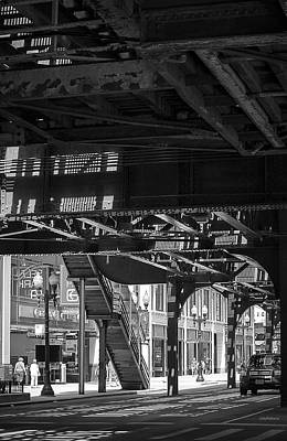 Photograph - Under Chicago's L by Julie Palencia