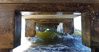 Photograph - Under Hanalei Pier by Michael Yeager