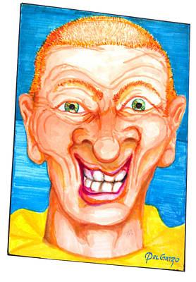 Cotton Candy Digital Art - Under His Clown Make Up by Del Gaizo