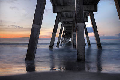Photograph - Under Johnnie Mercer's Pier Wrightsville Beach Nc by Craig Bowman