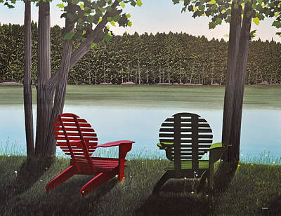 Under Muskoka Trees Art Print by Kenneth M  Kirsch