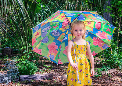 Print featuring the photograph Under My Umbrella by Rob Sellers