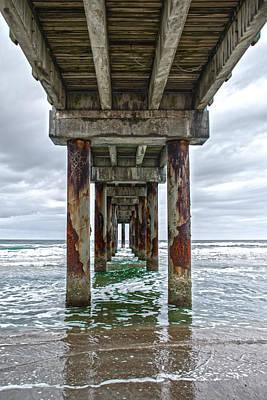 Photograph - Under Pier by Judy Hall-Folde